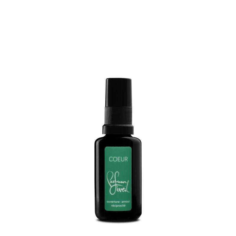 parfum chakra coeur 30ml, ouverture amour reciprocite, parfum eveil