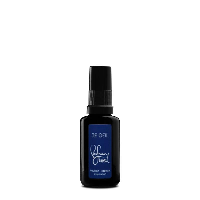 parfum chakra 3E Oeil 30ml, intuition sagesse inspiration, parfum eveil
