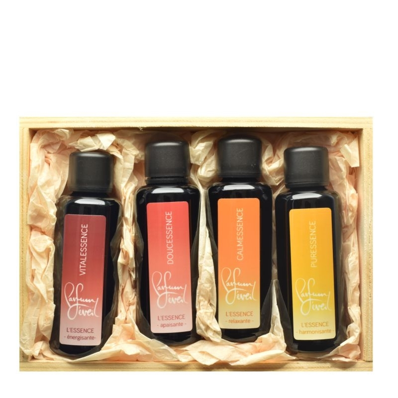 set essence bien-être, prendre soin de soi, soin corps et ame, parfum eveil